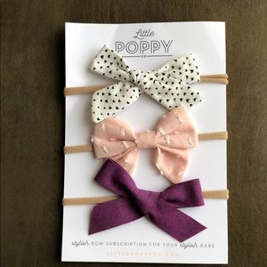 Little Poppy Co Set of 3 Baby Bows